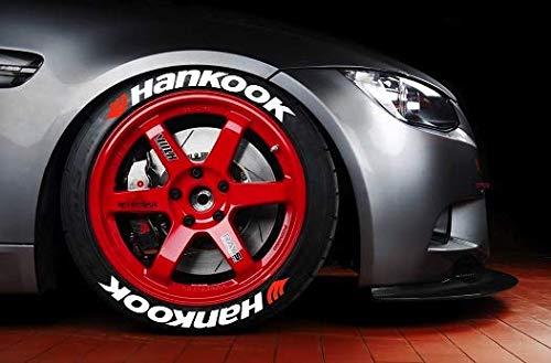 LK Performance Aufkleber für Hankook-Reifen, echtes Gummi, Vinyl-Buchstaben