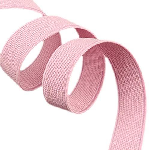 ModeFan Knit Elastic 1/2 inch Wide Pink Heavy Stretch High Elasticity Elastic Band 17 Yards Long