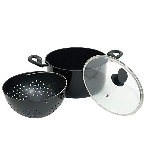 Kitchen Pro - Faitout 25 cm Magic Pot Maker avec Passoire Pivotante Intégrée et Revêtement Antiadhésif