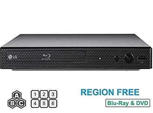LG BP165 Region Free Blu-ray Player, Multi region 110-240 volts, 6FT HDMI cable & Dynastar Plug adapter…