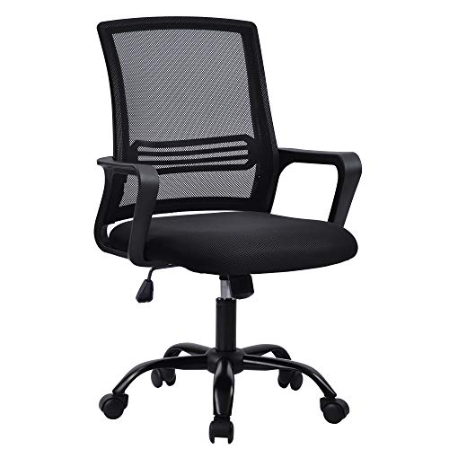 Office Chair,Ergonomic Mesh Desk Chair with Tilt Function Adjustable Height, Computer Chair for Home Office (Black)