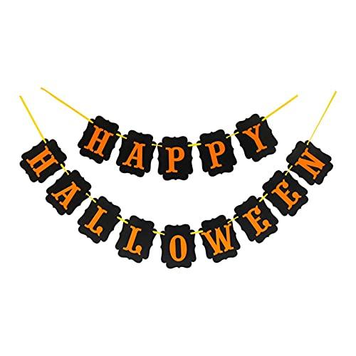 Jjwlkeji Party Tableware Halloween Home Decoration Supplies Door Tag Tablecloths Straws Paper Plates Paper Cups Halloween Party Supplies (Color : BE)