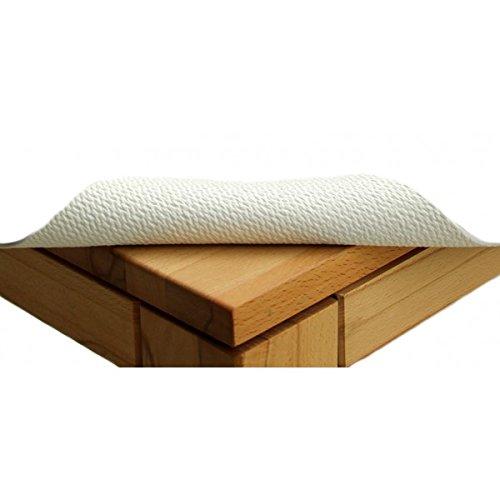 TextiDepot24 Tapis de table antidérapant, largeur : 85 cm, longueur au choix, couleur : blanc 85 x 600 Blanc.