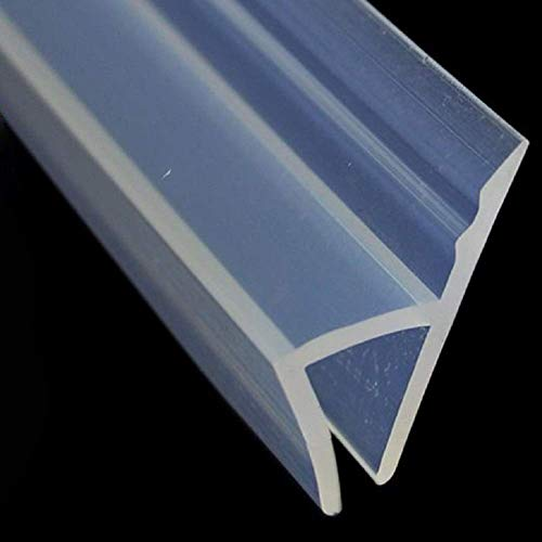 KEPEAK Bad Douche Screen Deur Seal Strip, Frameless Glas Deur Weer Stripping, 120inch, H-Type