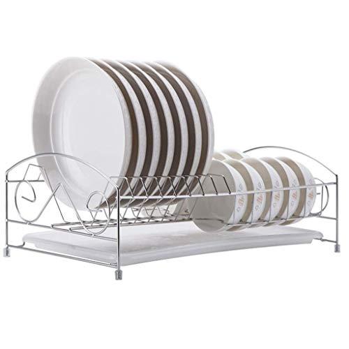 Metalen keuken plank organisator staande opslag keuken wastafel houder lade voor platen Bowl Cup