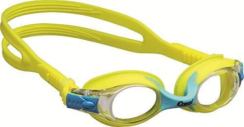 Cressi Kinder Dolphin 2.0 Premium Schwimmbrille, Gelb, Einheitsgröße