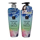 Elastine Perfumed Pure Breeze Hair Shampoo+Conditioner Set 600mlx2