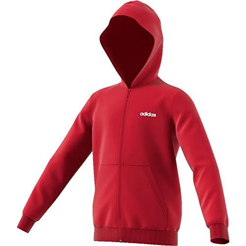 Adidas Essentials Linear Full-Zip Hoodie Boys Red