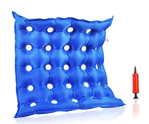Luftaufblasbares Premium-Sitzkissen, hitzeversiegelte Konstruktion für Strapazierfähigkeit, Kissen für Rollstuhl und täglichen Gebrauch, ideal für langes Sitzen, FDA-genehmigt