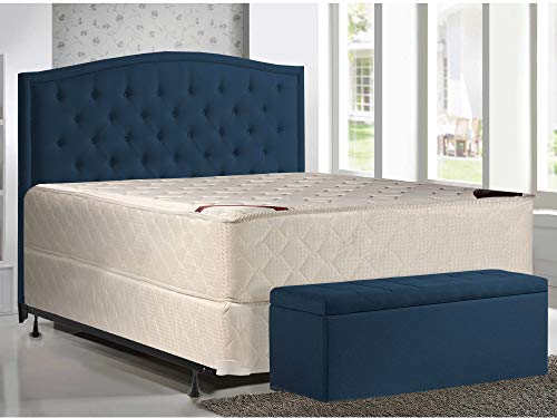 Affordable Mattress Solution 14 Fully Assembled Orthopedic Double Sided Firm Mattress and 4 Split ...