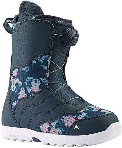Burton Mint BOA Snowboard Boots Womens Sz 10 Midnite Blue/Multi