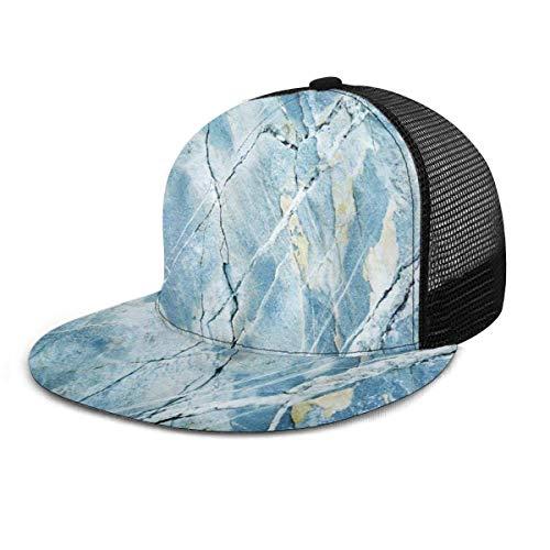 NA Gorra de béisbol Mármol Piedra de granito Piedra descolorida Unisex Gorras Snapback Sombrero de malla ajustable Sombreros de camionero
