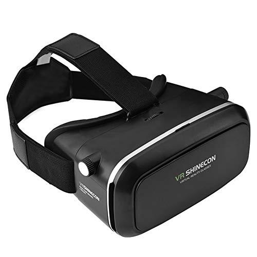 VR Brille - VR-Headset für 4,7-6,0 Smartphones | Komp. zu Nexus, Samsung, Lumia, LG, Moto, HTC, Huawei, Sony inkl. Kopfhörer + QR Codes [FOV 120° | PD + FD | Android] - G01