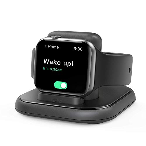 Conido Charging Stand for Apple Watch, Watch Charger Stand with Charging Cable, Magnetic Wireless Charging Station Compatible with Apple Watch SE Series 6/5/4/3/2/1/44mm/42mm/40mm/38mm- Black