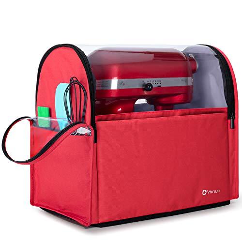 Yarwo Cubierta para KitchenAid Robots de Cocina, Funda para Batidoras amasadoras, Cubierta Encaja para Todos los KitchenAid Robots de Cocina 4.3 y 4.8 litros, Rojo