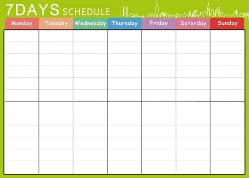 Organizador mensual A3, planificador semanal diario, imán para nevera, pizarra blanca y calendario para el hogar (K)