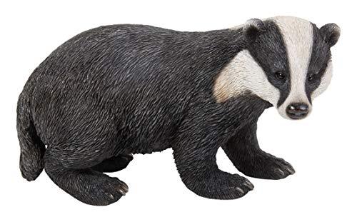 Real Life Woodland Badger | Highly Detailed Frost Resistant Resin Home or Garden Decoration | XRL-BADG-D