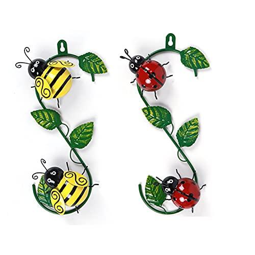 Lrxinki Wespe Wanddekoration Metall, Metal Bee Wanddekoration,Biene Gartendeko Rost, Hing An Der Wand, Garten Geschenke Hummel, Rost Deko FüR Garten, Balkon Deko, Deko...