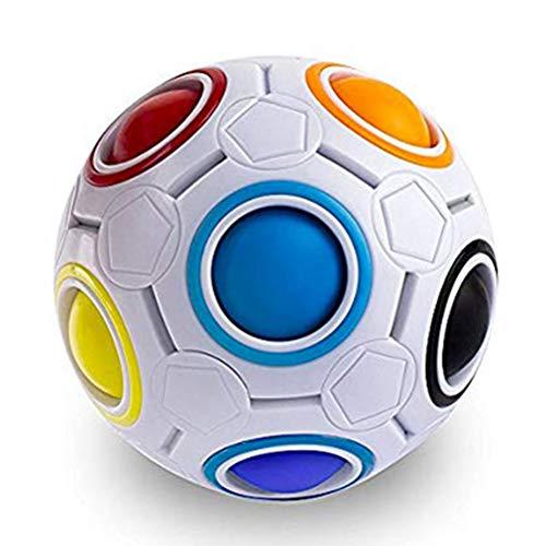 DEALBUHK Juguetes sensoriales, Bola Arco Iris de Regalo Creativo de descompresión de descompresión de fútbol Adulto Adulto Festival de Juguete Intelectual Regalos Infantiles
