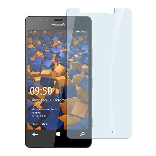 mumbi Hart Glas Folie kompatibel mit Microsoft Lumia 950 Panzerfolie, Schutzfolie Schutzglas (1x)