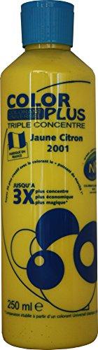 Pro G Déco Jaune Citron Colorant Ultra Concentré 250 ML Color Plus pour Toutes peintures décoratives et bâtiments. Performances Extrêmes. Permet la réalisation de Toutes Vos Envies