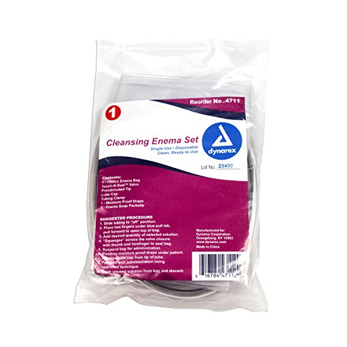 Dynarex Disposable Cleansing Enema Set, Individually Bagged, 48 Count