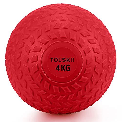 TOUSKII メディシンボール 筋力トレーニング 2~10kg スラムボール エクササイズ(4�s/赤)