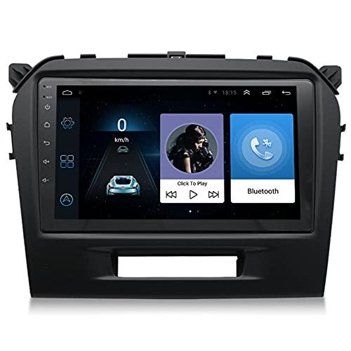 Android 9.1 8 Core 2.5D Pantalla Estéreo para automóvil Navegación por satélite Radio DVD Control del volante Reproductor de video Navegación GPS multimedia para FOR Suzuki Vitra 20(Color:WiFi