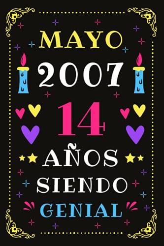 Mayo 2007 14 Años Siendo Genial: Diario de cumpleaños, cumpliendo 14 años | regalo de cumpleaños único de 14 años para niños niñas, hermano, hermana, primo, amigo, hombre, mujer
