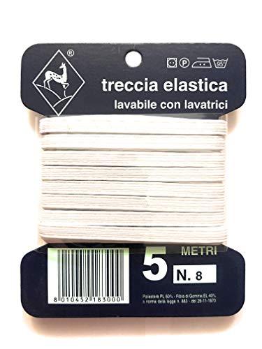 Ratti Treccia Elastico 5 Metri Numero 8 (0,4cm)
