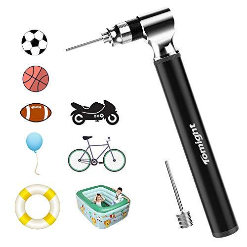 Tomight Mini Fahrradpumpe, Mini Luftpumpe Fahrrad für Presta Und Schrader Ventile, 300 PSI Hoher Druck Handpumpe und leichte Regal für Rennrad/Mountainbike Fahrrad - 3