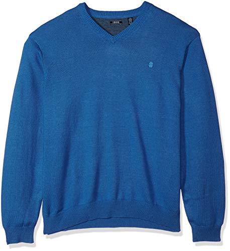 IZOD Men's Tall Premium Essentials Solid V-Neck 12 Gauge Sweater, Federal Blue Legacy, 3X-Large Big