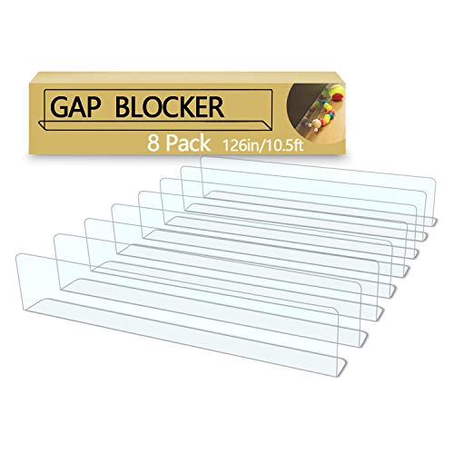 QIYIHOME 8-Pack Toy Blocker, Gap Bumper for Under Furniture,...