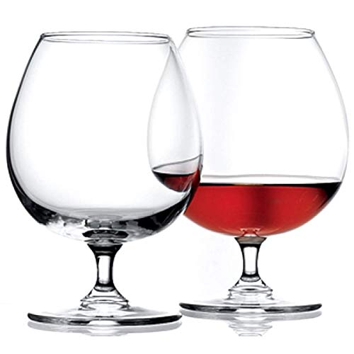 Pasabahce Cognacschwenker 680ml, 6er Set Cognac Gläser, spülmaschinenfest, elegant und hochwertig