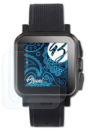 Bruni Schutzfolie kompatibel mit Simvalley-Mobile AW-414.Go/GW-420 Folie, glasklare Bildschirmschutzfolie (2X)