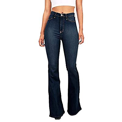 HOSDJeans Women High Waist Denim Wide Leg Jeans Frayed Edge Fashion Flare Jeans Dropshipping by HOSD