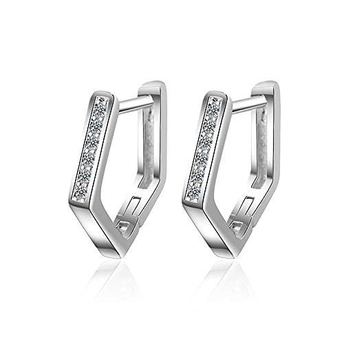 Pandora 925 colgante de plata esterlina DIY Plata Color oro Aro Errings Diseño simple Pendientes Joyería Fabricación de moda C