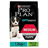 PRO PLAN Medium Puppy Sensitive Digestion avec OPTIDIGEST Riche en Agneau - 12 KG - Croquettes pour chiots