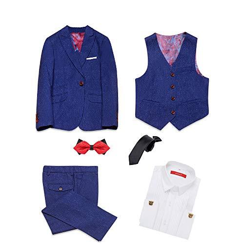 ELPA ELPA Jungen Passt Blaue Formelle Kleidung des Formalen Smokings 5 des Formalen Smokings des Formalen, Blau, 16