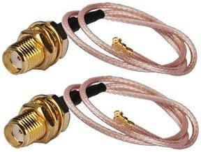 DHT Electronics 2PCS 20CM SMA Female to U.FL IPX IPEX WiFi Cable for U.FL Mini PCI Card