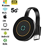 picK-me Wireless WiFi Display Dongle Adapter, 4K HDMI, 5G /2.4GHz Dual Band Audio Video Sharing Media, Wireless Projection from iPhone, Android Smart Device to TV, Monitor or Projector