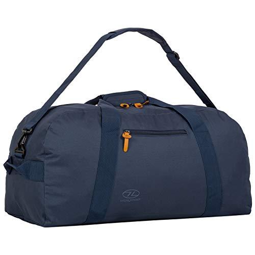 HIGHLANDER Cargo Bag 65L Borsone di Tela Robusta Ideale per Viaggi o Come Sacca Sportiva (Color Porto) (Blu Jeans)