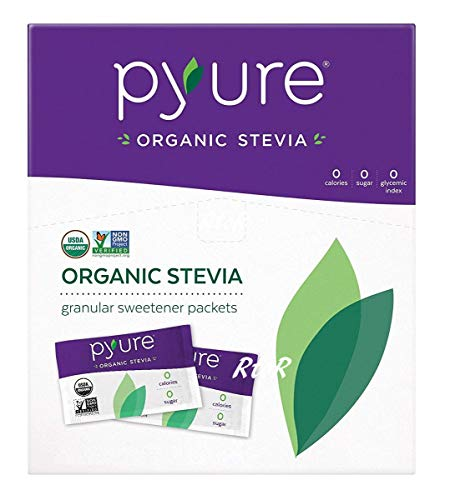 Pyure オーガニック ステビアスイートナー 1g×120袋 120g 有機甘味料 シュガーフリー Organic Stevia Sweetener