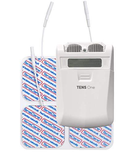 TensCare Tens One - Electroestimulador Tens digital para Alivio el dolor. Control manual, con 3 modos y 2 Canales para 4 electrodos