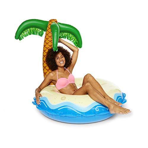 Pool aufblasbare Spiele, aufblasbare Palme Schwimmring Erwachsenen Wasser Liege Regenbogen Cup Loch schwimmende Reihe