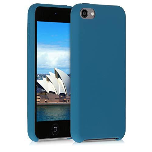 kwmobile Hülle kompatibel mit Apple iPod Touch 6G / 7G (6. und 7.Generation) - Silikon Schutzhülle gummiert - Cover Case in Petrol