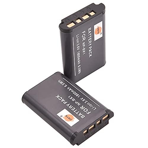 DSTE - Batería de repuesto para NP-BX1, NP-BX1/M8 y Sony HDR-CX240 HDR-CX240E DSC-RX1 DSC-RX10 II DSC-RX1B DSC-RX100 IV DSC-RX100/B (2 unidades)