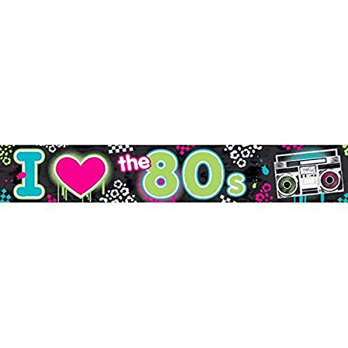 ToyCentre Amscan 7.6 m Totally 80s Foil Banner