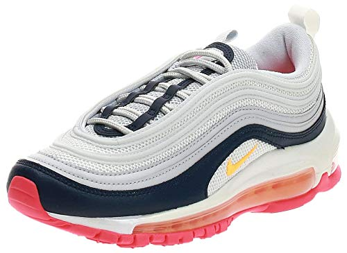Nike AIR MAX 97 W Sneaker Damen Weiss/Blau/Orange - 36 1/2 - Sneaker Low