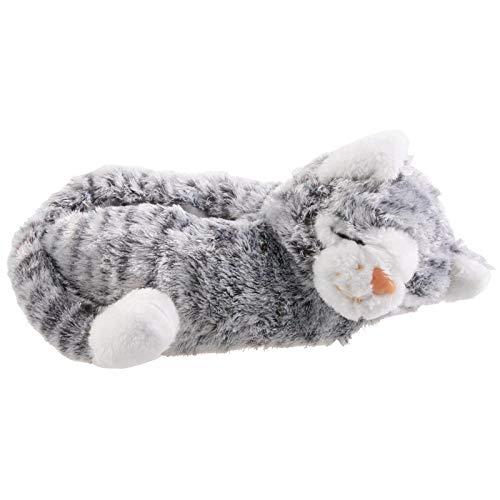 SAMs Damen Tierhausschuhe Katze, grau, 37/39, TH-Ca